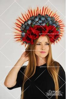 Кокошник «Квіти у колоссі»