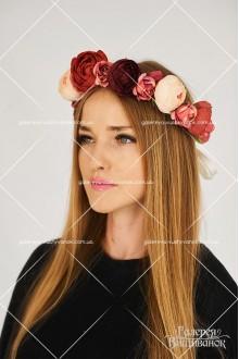 Український вінок «Рожеве намисто»