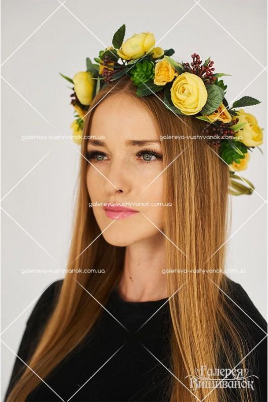 Український вінок «Сонце в пелюстках»