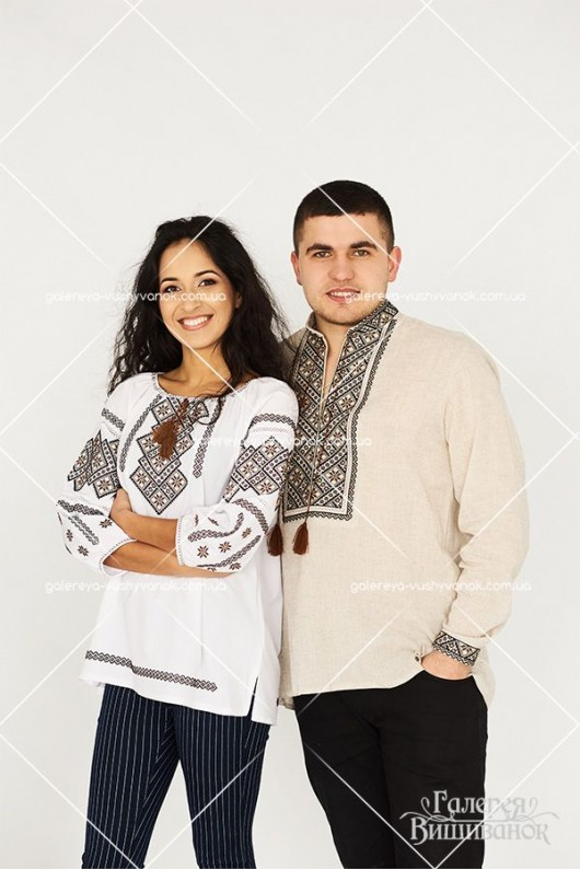 Чоловіча сорочка «Леонід» та жіноча блузка «Лідія»