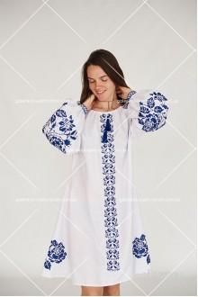Чоловіча сорочка «Сині троянди» та Сукня «Синя троянда»