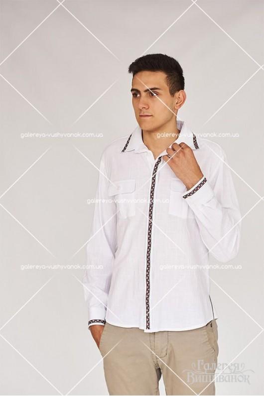 Чоловіча вишита сорочка «ГВ1421»  та вишита сукня  «ГВ6421»
