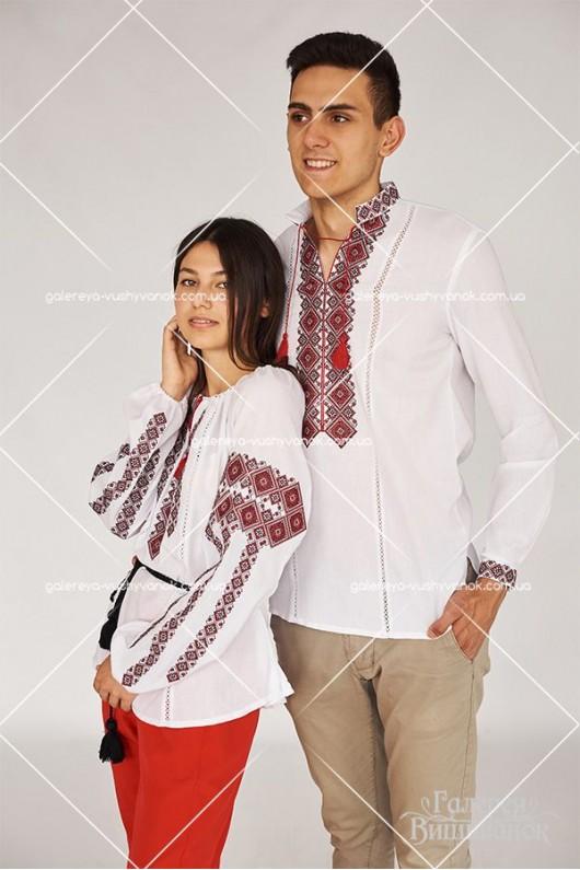 Чоловіча вишита сорочка «ГВ1411» та жіноча блузка «ГВ2411»