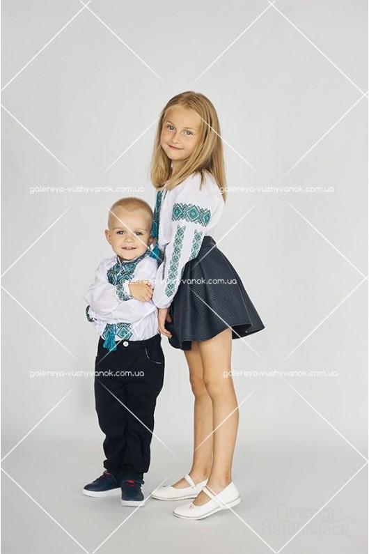 Сорочки для чоловіка «ГВ1411» та хлопчика «ГВ3411», блузки жіноча «ГВ2411» та для дівчинки «ГВ4411»