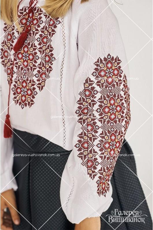 Чоловіча вишита  сорочка «ГВ1191» та блузка вишита для дівчинки «ГВ4191»