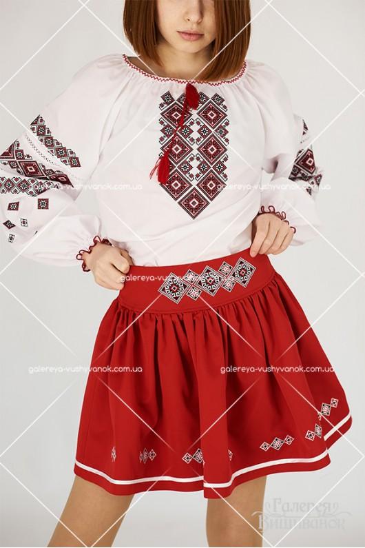 Блузка вишита для дівчинки «Мирослава»