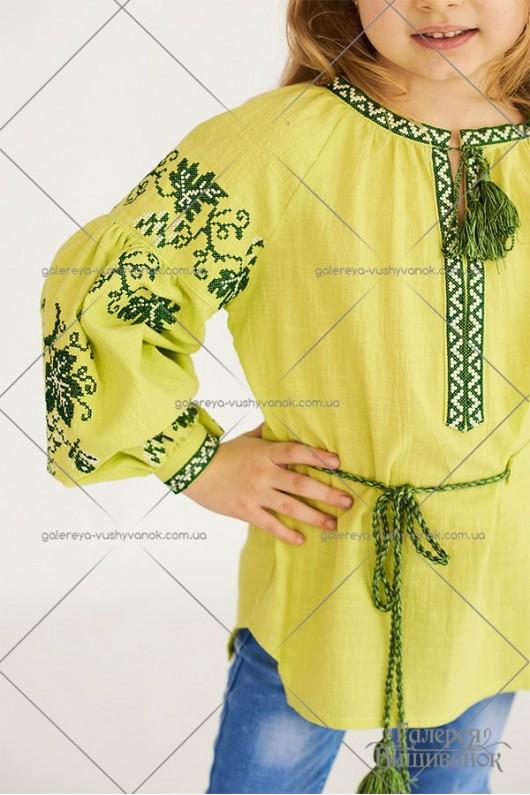 Блузка вишита для дівчинки «ГВ4231»