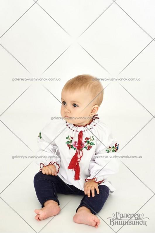 Блузка вишита для дівчинки «Діана-міні»