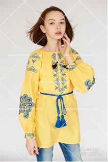 Блузка вишита для дівчинки «Патріотична»