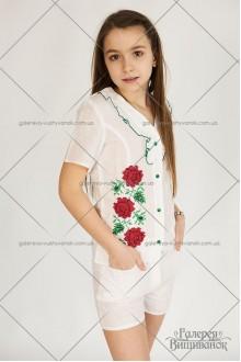 Костюм для дівчинки «Літня троянда»