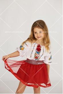 Спідниця для дівчинки «Червоний фатин»