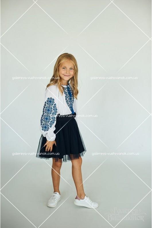 Спідниця для дівчинки «Синій фатин»