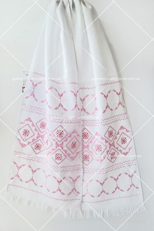 Весільний рушник «Рожевий ранок»