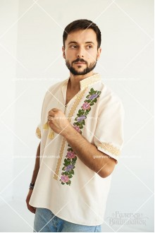 Чоловіча сорочка «Вечірні троянди»