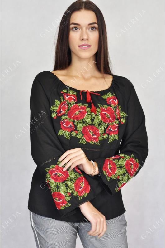 Жіноча вишита блузка «ГВ2112»
