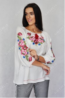 Жіноча вишита блузка «Мак»