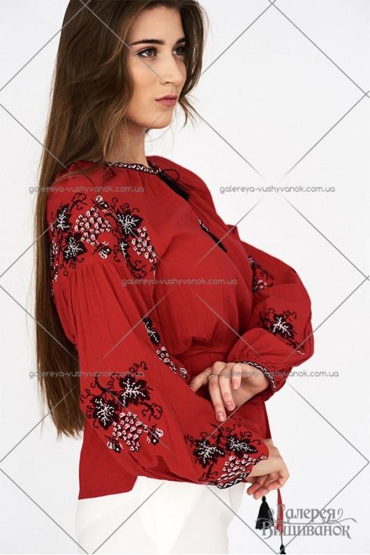 Жіноча вишита блузка «ГВ2232»