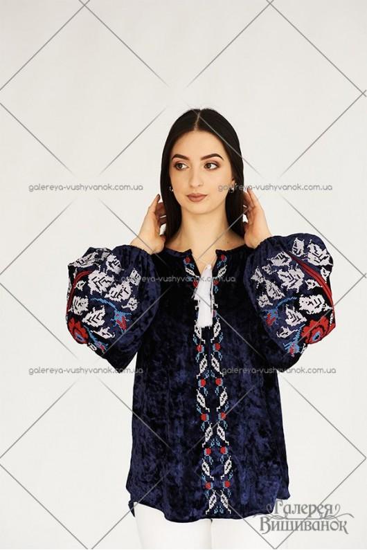Жіноча блузка «Троянда-оксамит»