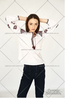 Жіноча вишита блузка «ГВ2421»