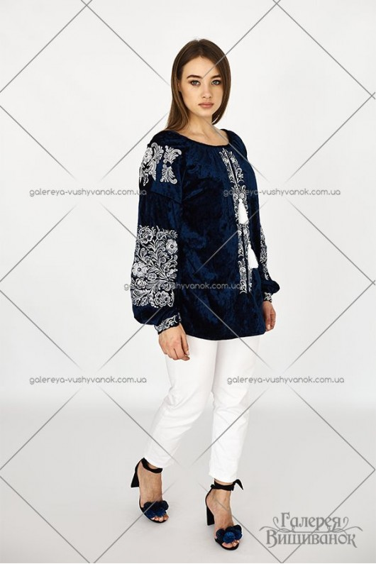 Жіноча блузка «Оксамитовий барвінок»