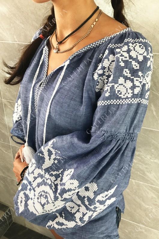 Жіноча вишита блузка  «Ружа»