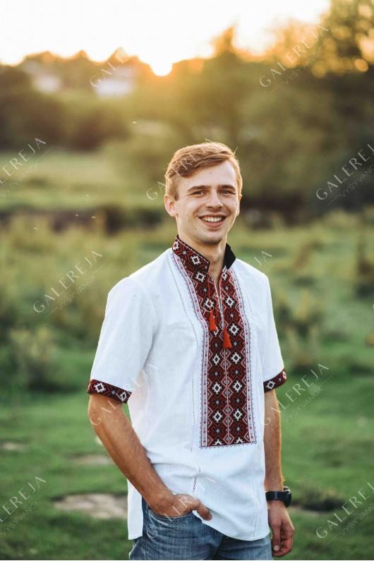 Чоловіча вишита  сорочка «ГВ1162» і вишита блузка «ГВ2520»