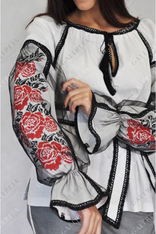 Жіноча вишита блузка  «Ружа фатин»