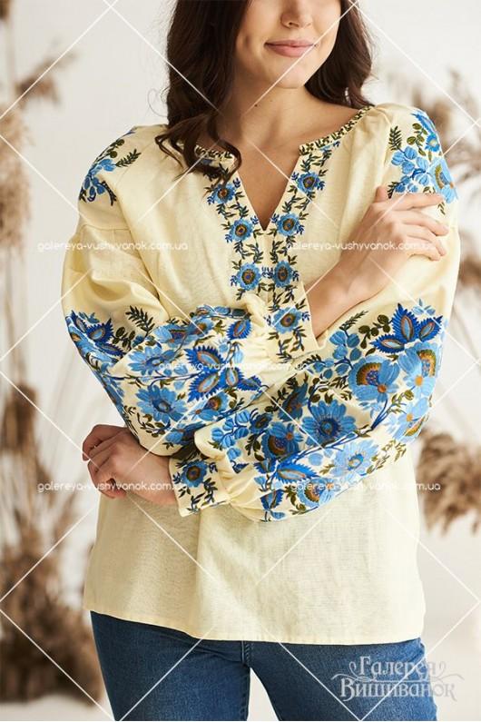 Жіноча вишита блуза «Вікторія»