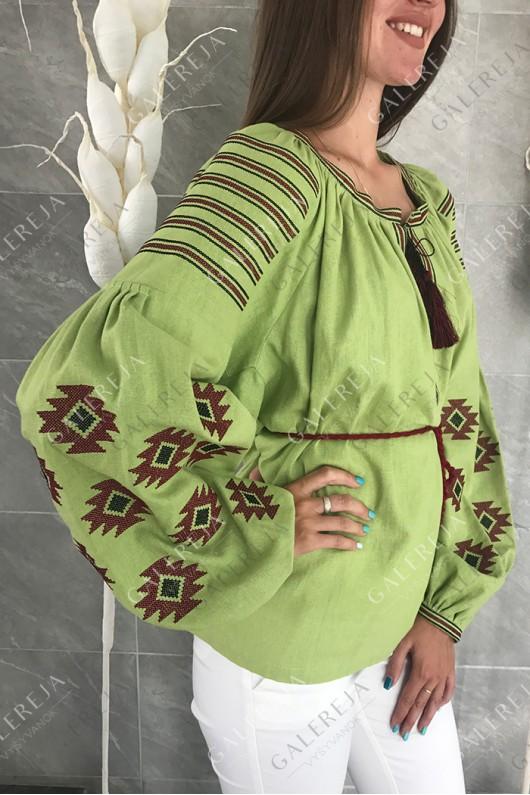 Жіноча вишита блузка «Геометрія»