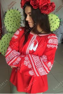 Жіноча вишита блузка «Волошка»