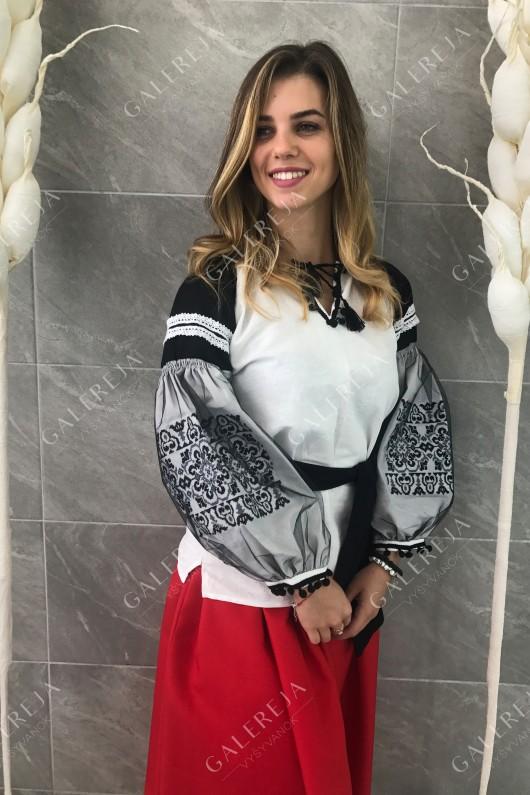 Жіноча вишита блузка  «Геометрія фатин»