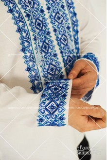Ексклюзивні чоловіча сорочка «Бісер-рубка» та сукня «Голубі лілії»