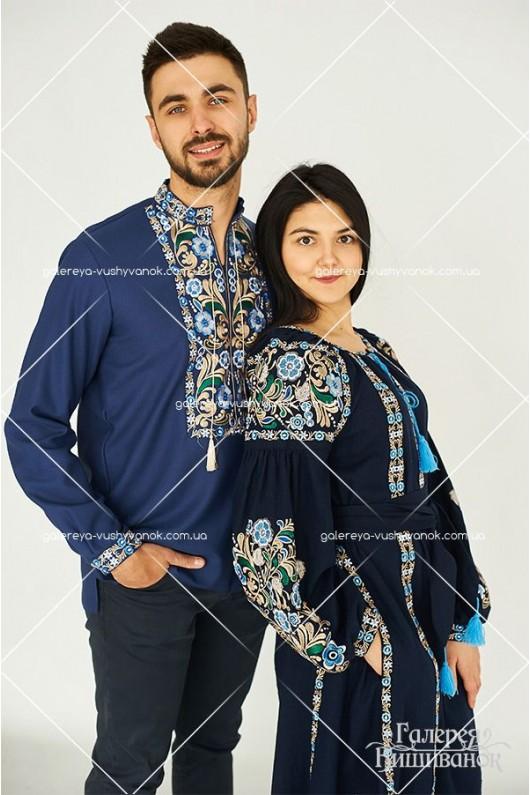 Чоловіча сорочка «Алан» та сукня «Аліна»