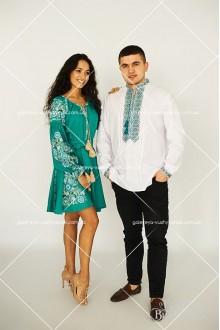 Чоловіча вишита сорочка «ГВ1411» та сукня «Аліна»