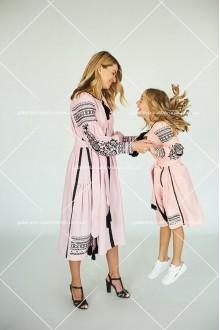 Сукні для жінки та для дівчинки «Пава»
