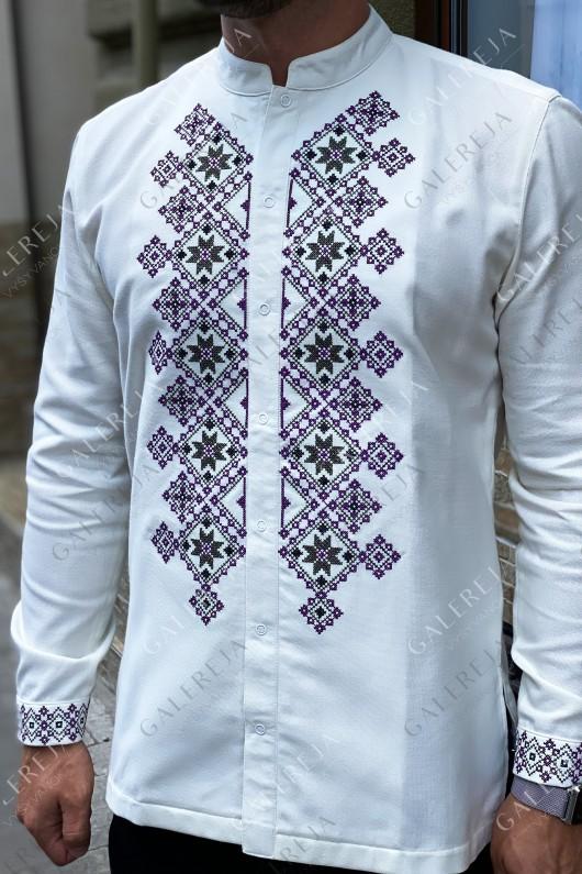 Чоловіча вишита сорочка «Монохром»