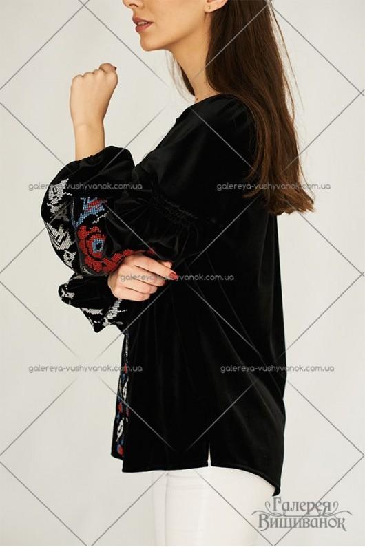 Женская блузка «Роза-бархат»